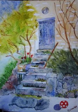 Vacances à la villa aux portes bleues