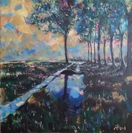 Le chemin du Mesnil, après la pluie