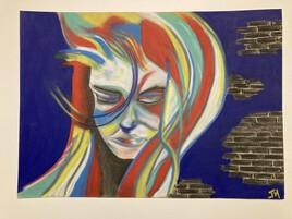 Femme colorée
