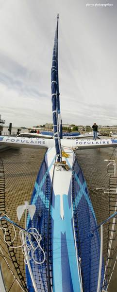 Photo maxi trimaran banque populaire 5
