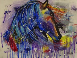 cheval abstrait