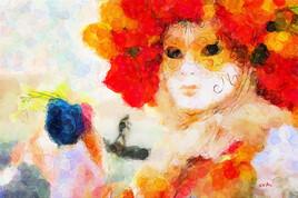 Couleurs masques carnaval de Venise