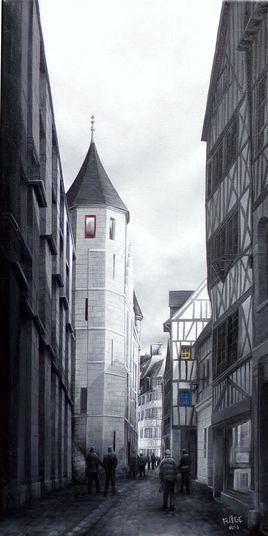 """""""La Fenêtre Jaune de la rue St Romain -Rouen"""""""