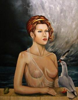Peinture Alcyon vénérant Thétis