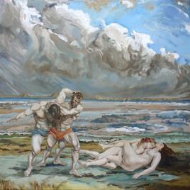 Corps-à-corps, hommage à Courbet