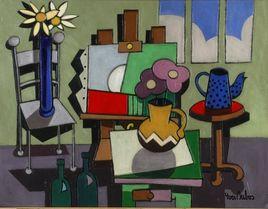 Peinture Tableau abstrait sur chevalet par YVES DUBOS