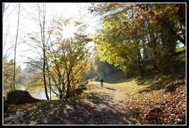 Footing femme au parc nord des Ulis (photo perso)