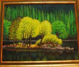les arbres sur le lac