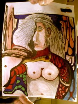 Peinture femme bras