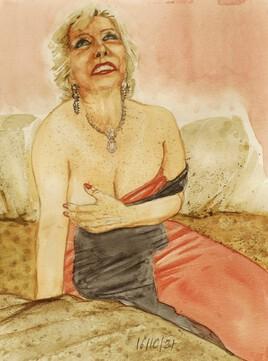 la dame aux escarpins rouges