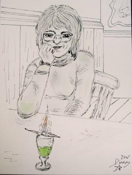 Buveur d'absinthe (Montse)