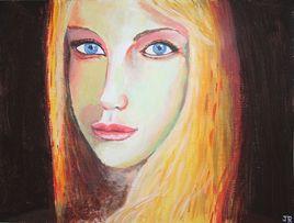 Jeune fille aux yeux bleus