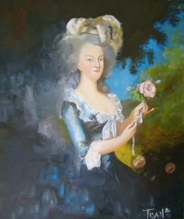 Marie Antoinette à la rose