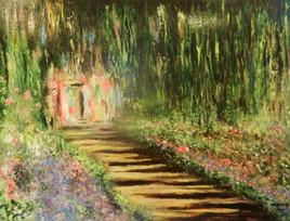 Jardin fleuri (d'après Cmaude Monet)