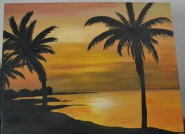coucher de soleil estival
