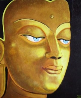 Bouddha style tibétain doré (visage)