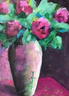 Bouquet rose dramatique