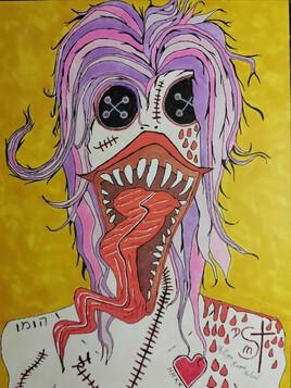 If I speak my tongue bleeds.