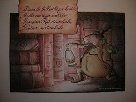 La nuit dans la bibliothèque...