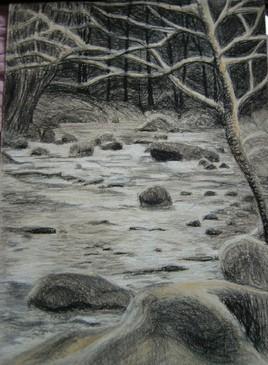 rivière d'hiver
