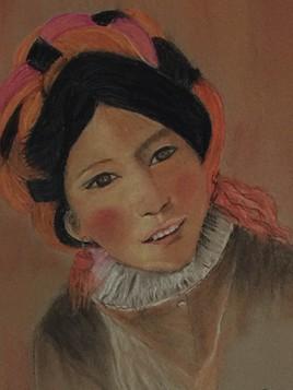 Petite tibétaine d'après Gisèle hurtaud