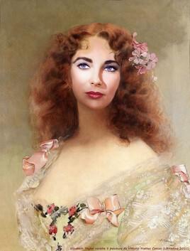 Liz Taylor revisite une peinture de Vittorio Matteo Corcos ..