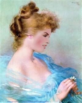 Marilyn revisite une peinture d' Albert Lynch..