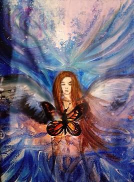 """Petit dessin:peinture """" Angel Fall"""""""