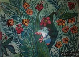 Grenouille dans la jungle