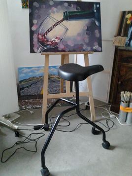 mon tabouret de peintre - suite