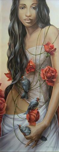 Peinture El collar de Rosa