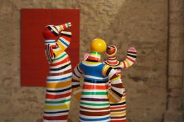 Pascale Fournier, Triptyque, Envol multicolore, 2009