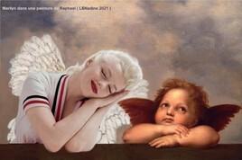 Marilyn en compagnie d'un chérubin de Raphael  ! :)