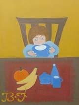L'enfant au bol de lait