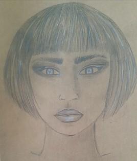 Femme aux yeux blancs