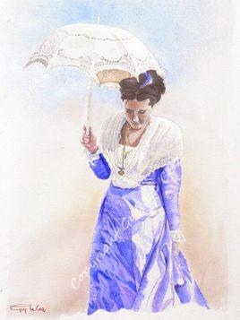 Arlésienne à l'ombrelle