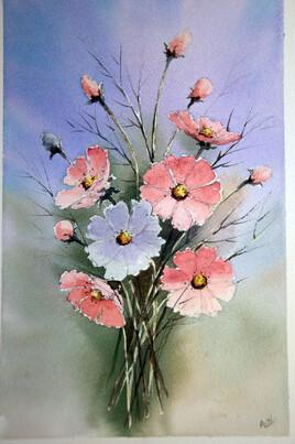 petit bouquet de fleurs cosmos