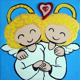 Deux petits anges souriants