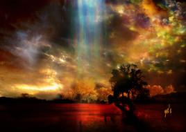 L'aube. Conception numérique.