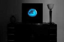 Tableau F-Line Agate Pacman phosphorescent de nuit