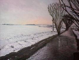 Bord de rivière, effet d'hiver