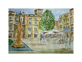 La place Saint Projet à Bordeaux