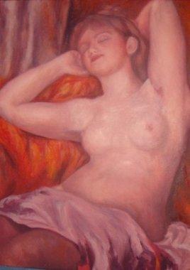 Copie baigneuse de Renoir