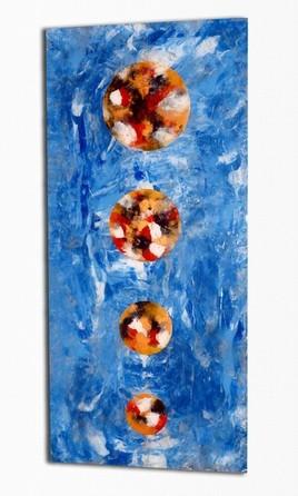 Peinture abstraite sur plexiglas «32px signe albert derriennic