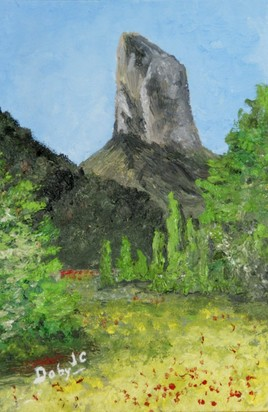 Peinture Le mont aiguille