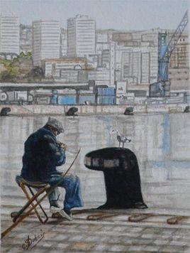 Le pêcheur du port de la Joliette  Marseille