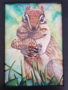 Ecureuil à l'aquarelle