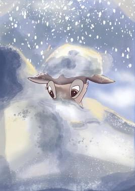 Bambi dans la neige