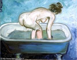 Alexia, nu à la baignoire (2009) par Fabrice Martin