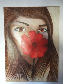 Femme et fleur